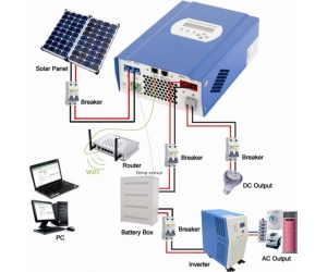 12V/24V/48V 40A 50A 60A Solar Charge Controller With Remote Monitoring Function