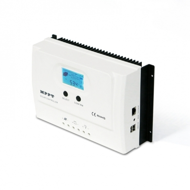 China I-Panda WISER 12/24V auto work mppt charge controller, Backlight LCD display+dual USB 5V 3A factory