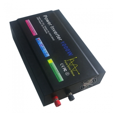 China Hot sale 1000W high frequency pure sine wave 12V DC to 220V AC power inverter factory