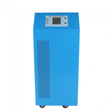 China high power hybrid inverter dc 24v to ac 6000w pure sine wave inverter with built-in 40a solar controller factory