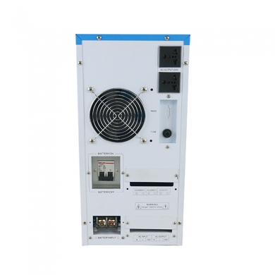 China hybrid inverter dc 48v to ac 5000w pure sine wave inverter with built-in 60a solar controller factory